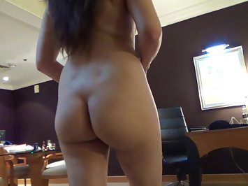 Juicy Indian MILF Walking Nude In Bedroom