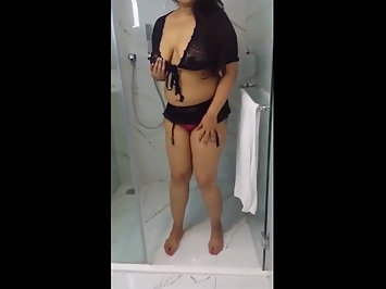 Marathi GF Naked In Bathroom Stripping Masturbating