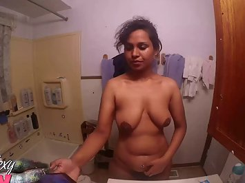 Horny Desi Babe Lily In Bathroom